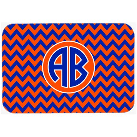 Carolines Treasures Cj1044 Custom Cmt Chevron Orange   Blue For Florida Kitchen Or Bath Mat  20 X 30 In