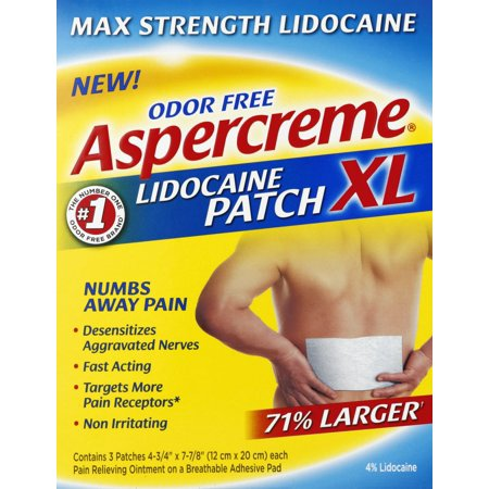 Aspercreme Lidocaine XL Patch 3ct (Lidoderm Lidocaine Patch)