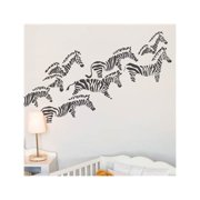 Herd of Zebras Wall Decal - Charcoal
