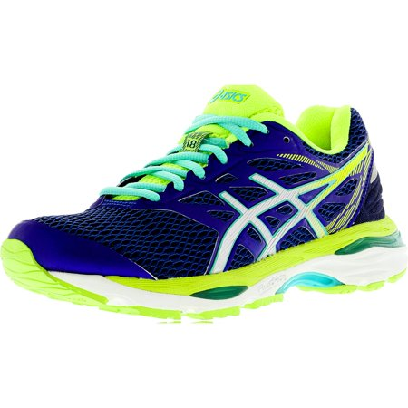 1844cc3f Asics Women's Gel-Cumulus 18 Blue / Silver Safety Yellow Ankle-High Running  Shoe - 6.5M