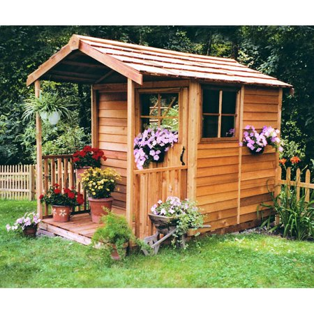 Cedar shed childrens delight cedar playhouse for Children s garden sheds