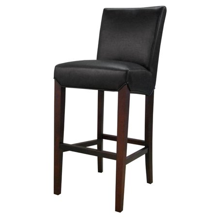 Milton Bonded Leather Bar Stool With Kickplate, Multiple Colors ()