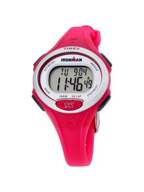 798516f6f Product Image Women's Ironman Essential 30 Mid-Size Watch, Pink Resin Strap.  Timex