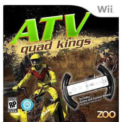 Image of atv quad kings with racing wheel - nintendo wii