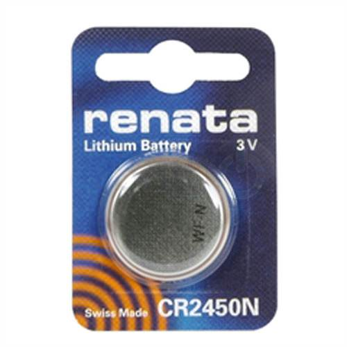 Renata CR2450N-CU 540mAh 3V Lithium Primary (LiMNO2) Coin Cell Battery