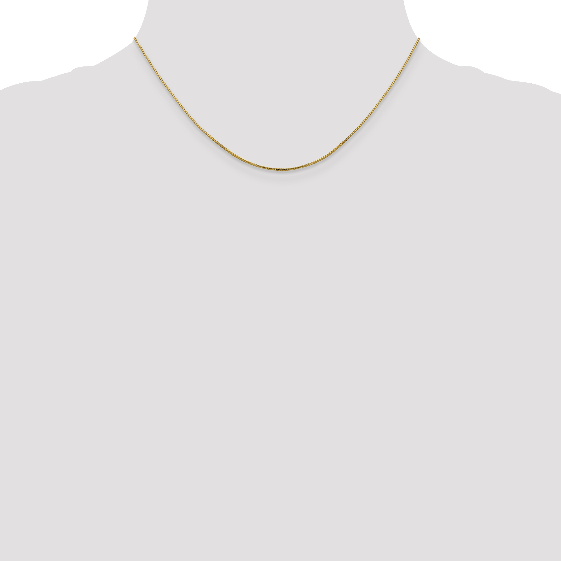 14k Yellow Gold 1 Mm Octagonal Sparkle Link Box Chain Necklace 16 Inch Pendant Charm Fine Jewelry Gifts For Women For Her - image 2 of 5