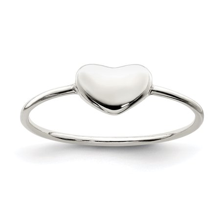 925 Sterling Silver Heart Band Ring Size 6.00 S/love Fine Jewelry Gifts For Women For Her - image 6 of 6