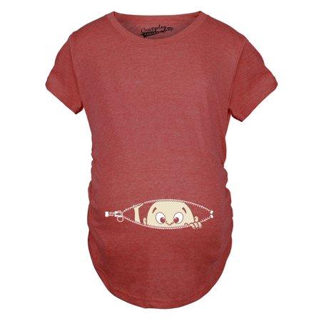 b7b9c0ab Crazy Dog Funny T-Shirts - Maternity Baby Peeking T Shirt Funny Pregnancy  Tee For Expecting Mothers - Walmart.com