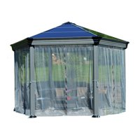 Palram Roma Garden Gazebo Netting Set Grey (6-Pieces)
