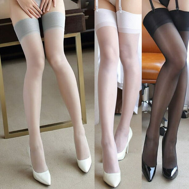 Meihuida Hot Women Stocking Lace Top Silicone Band Stay Up Thigh High Stockings Pantyhose Walmart Com Walmart Com