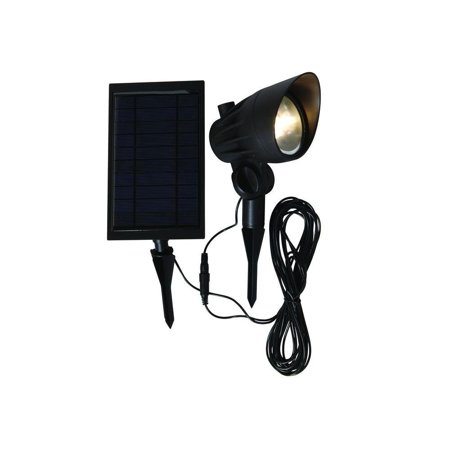 Hampton Bay Solar Black Led Outdoor Spotlight