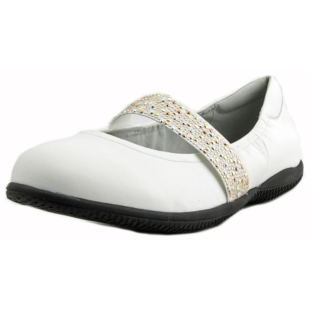 Softwalk High Point Flat Women N/S Mary Round Toe Leather White Mary N/S Janes 0c0bba