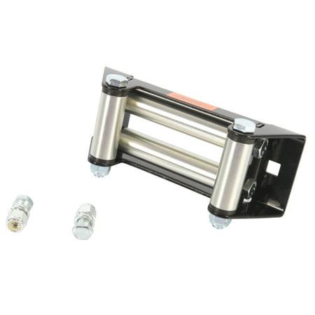 Kimpex Winch Roller Fairlead Guide 6in Cable Black Silver Steel For UTV Silver, Black  #273906 ()