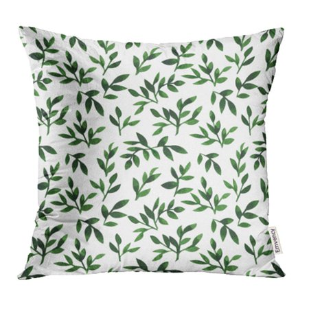 Country Wedding Colors (ARHOME Green Wedding Floral Watercolor Pattern Greenery Vine Country Fine Artistic Botanic Pillow Case Pillow Cover 18x18 inch Throw Pillow)