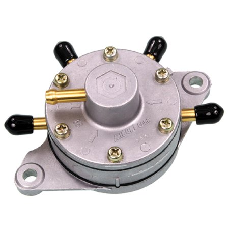 Round Fuel Pump - Mikuni DF52-92 Fuel Pump - Triple Outlet - Round