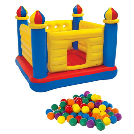 39f6d4533 Intex Inflatable Jump O Lene Ball Pit Outdoor Castle Bouncer w  100 ...