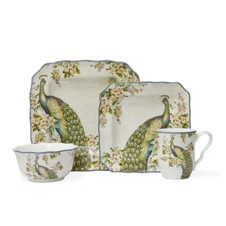 222 Fifth Empress Garden 16 Piece Dinnerware Set, Service for 4 ()