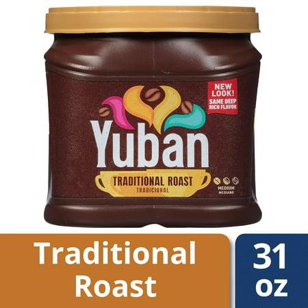 - Yuban Premium Coffee, Medium Traditional Roast, Ground, 31 Ounce