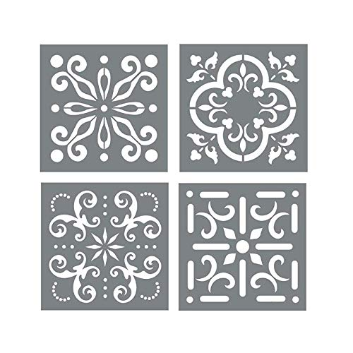 Fancy Floral 8.5 by 7-Inch Ranger Dyan Reaveleys Dylusions Cling Stamp Collections