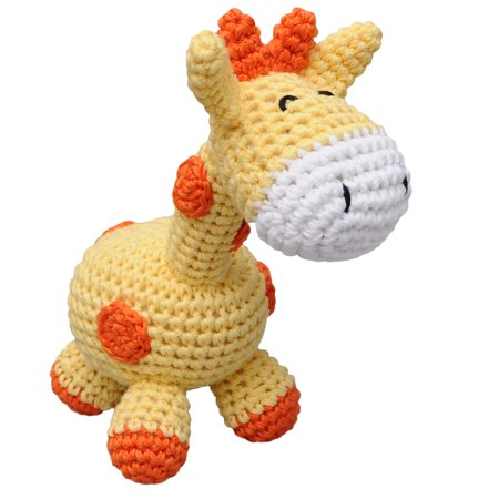 Yellow Giraffe Handmade Amigurumi Stuffed Toy Knit Crochet Doll VAC