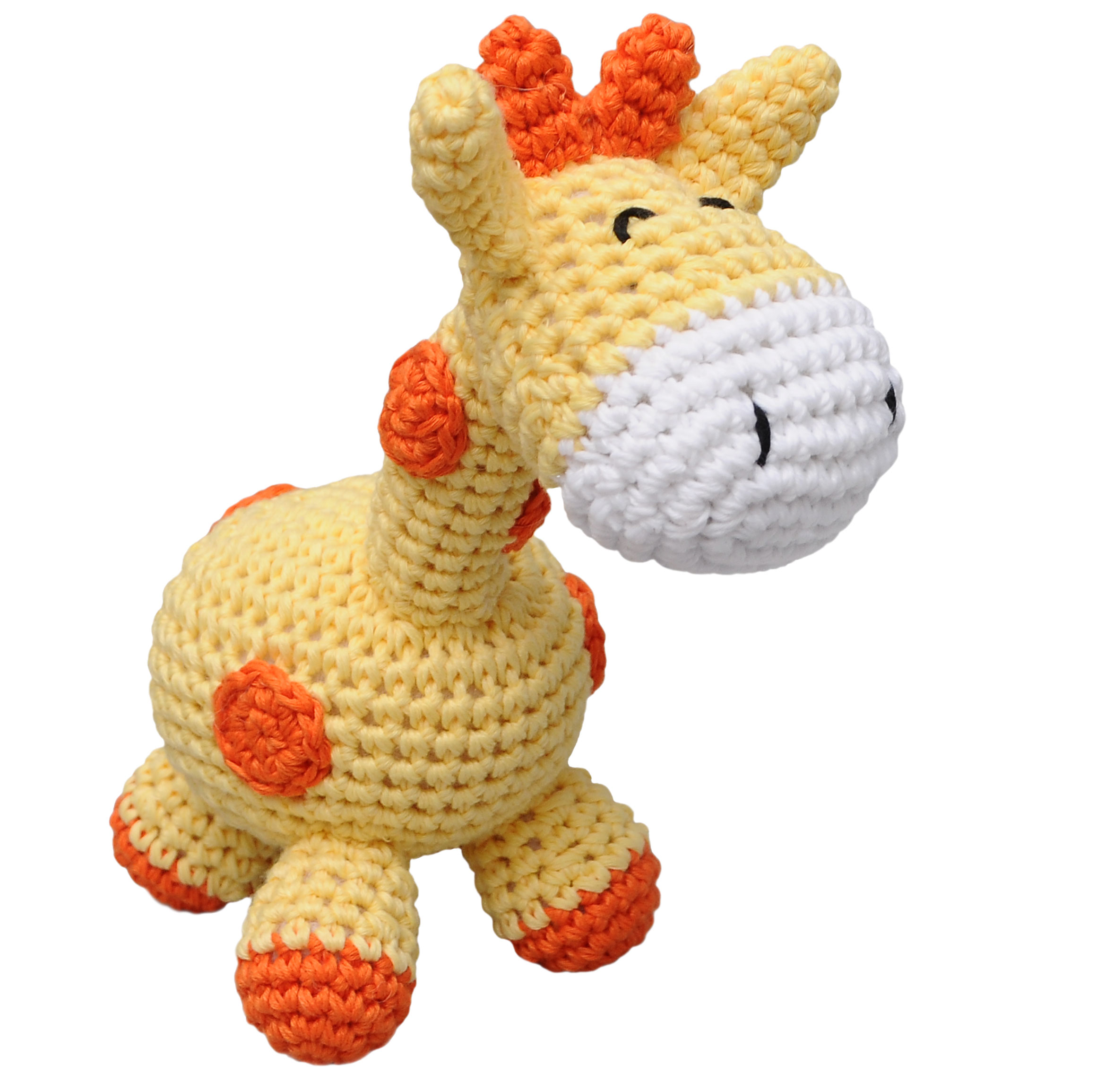 Yellow Giraffe Handmade Amigurumi Stuffed Toy Knit Crochet Doll VAC