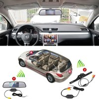 "4.3"" Wireless TFT Rearview Mirror Car Rear View Camera HD Video Parking LED Night Vision CCD Parking System Car Styling"
