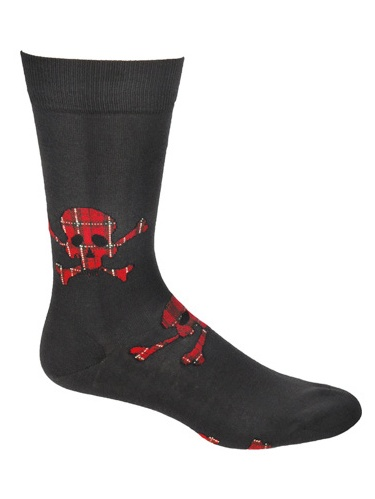 Ozone Design M834-19 Mens Tartan Terror Socks, Black - One Size Fits Most - Set of 2