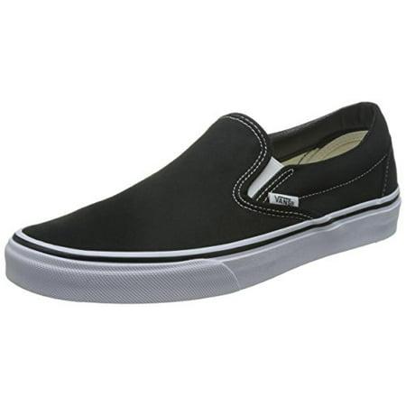 b9af6d55154f Vans - Vans Classic Slip-on Skate Shoes - Black 10 B(M) US Women   8.5 D(M)  US Men - Walmart.com