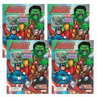 Dalmatian Press (4 Pack) Avengers Comic Book Superhero Coloring Book Party Favors For Kids Toys Cut Out Masks