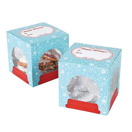 Goose Cookie (Fun Express - Snow Globe Cookie Boxes for Christmas - Party Supplies - Containers & Boxes - Paper Boxes - Christmas - 12 Pieces)