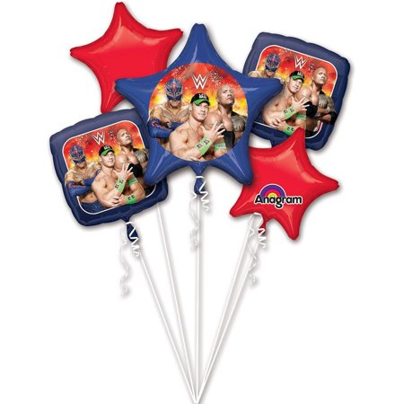 Mayflower BB101273 Wwe Balloon Bouquet, 1 Balloon Bouquet per package By Mayflower Products