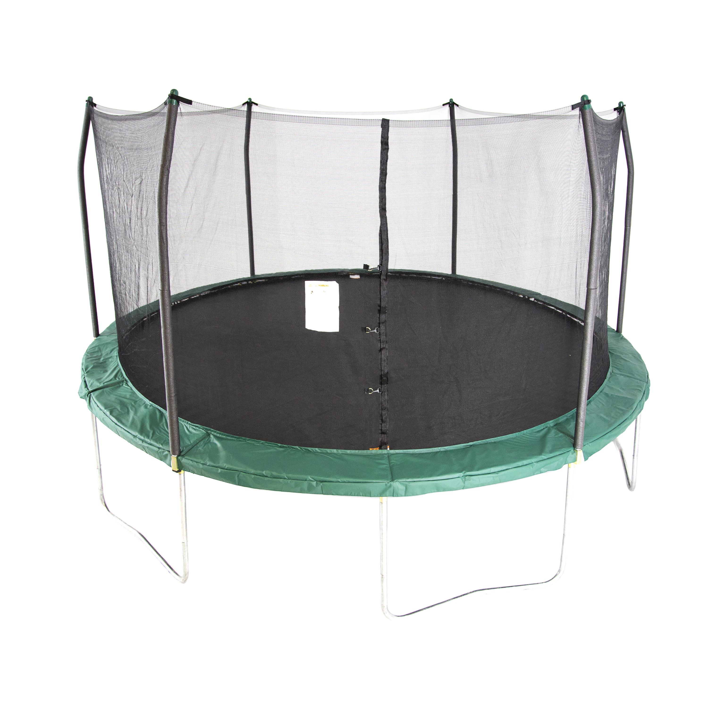 Skywalker Trampolines 15-Foot Trampoline, with Enclosure, Green