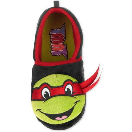 0cd17a3c0aa Teenage Mutant Ninja Turtles - TMNT Toddler Boys Black Slippers House Shoes  - Walmart.com