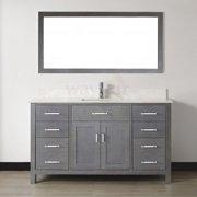 Bauhaus Bath Celize 60'' Single Bathroom Vanity Set with Mirror