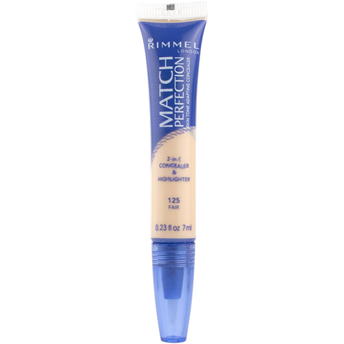 Rimmel Match Perfection 2-In-1 Concealer And Highlighter, Fair, 0.23 fl oz