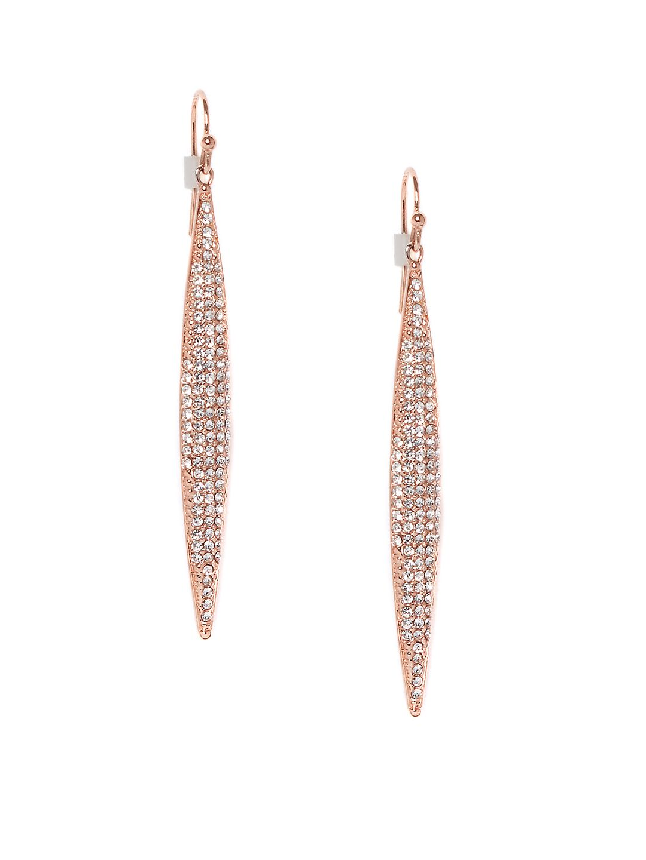 Pavé Crystal Spear Drop Earrings