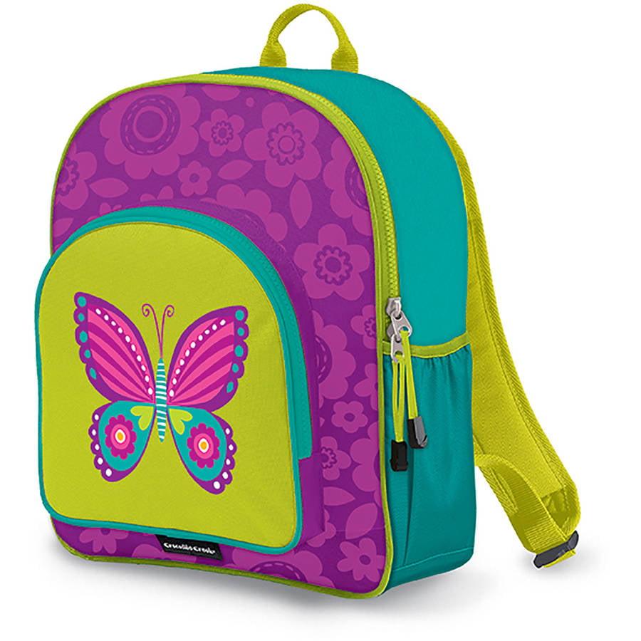 """Crocodile Creek Eco Kids Butterfly Girls School Backpack, 14"""", Purple"""