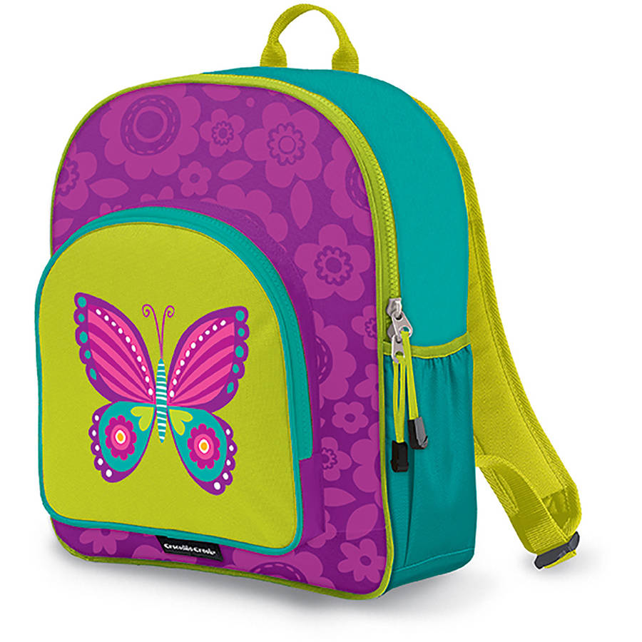 "Crocodile Creek Eco Kids Butterfly Girls School Backpack, 14"", Purple"
