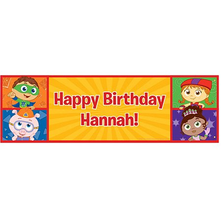 Personalized Super Why! Happy Birthday - Happy Birthday Personalized Banner