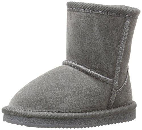 Lamo Kid's Faux Fur Fashion Boot (Toddler Little Kid Big Kid), Charcoal, 12 M US Little Kid by Lamo