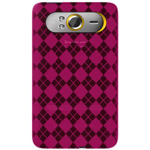 Premium Designer High Gloss TPU Soft Gel Skin Case for HTC HD7S, HTC HD7 - Hot Pink