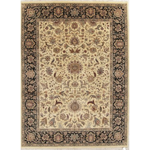 Isabelline One-of-a-Kind Newburyport Agra Hand-Knotted 9' x 12' 1'' Wool Yellow/Gold Area Rug