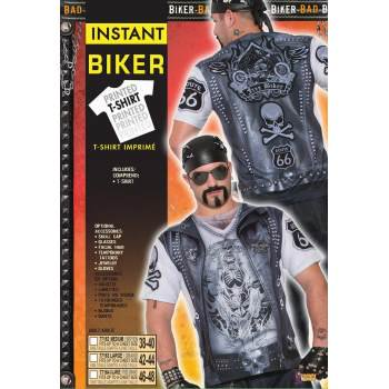 Mens Sublimation Biker Guy Shirt Halloween - Biker Babe Costume Halloween