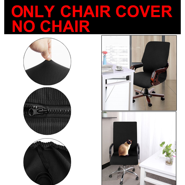 Home Office Stretch Waterproof Chair Cover Rotating Armchair Slipcoves Jacquard Medium Size Black Only Chair Cover Walmart Com Walmart Com