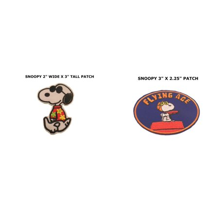 Cartoon Comics Snoopy Joe Cool 2-Pack Iron or Sew-on Patch