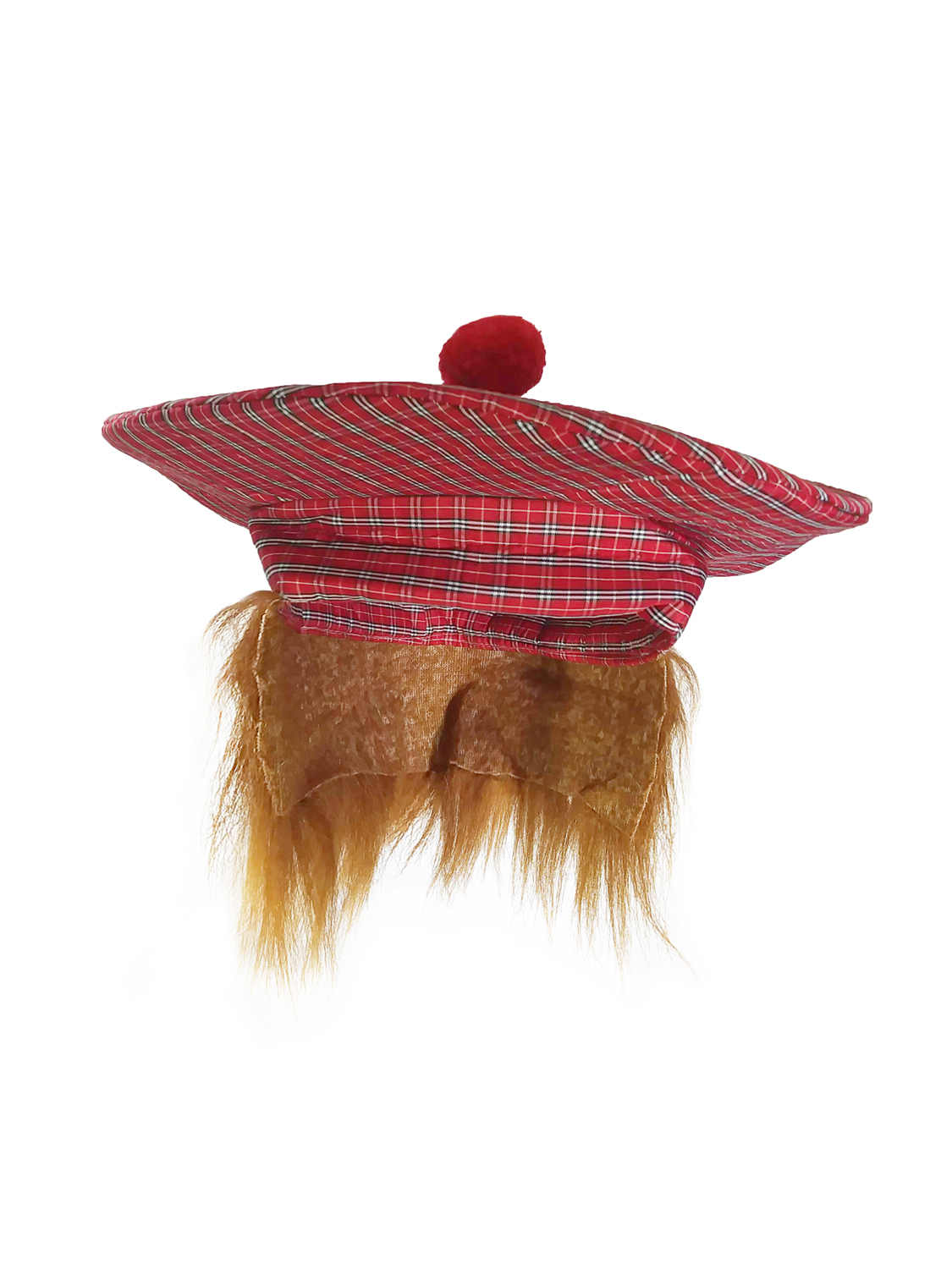 Golf Scottish Irish Tam Hat Plaid Tam O Shanter with Hair ...