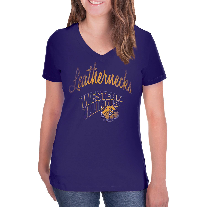 NCAA Western Illinois Leathernecks Women's V-Neck Tunic Cotton Tee Shirt