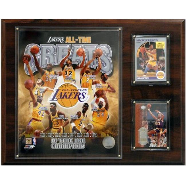 C & I Collectables 1215LAKERSGR NBA Los Angeles Lakers All-time Great Photo Plaque