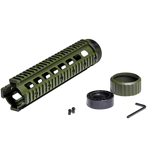 "Firefield Rifle 10.25"" Floating Quad Rail Olive Drab"