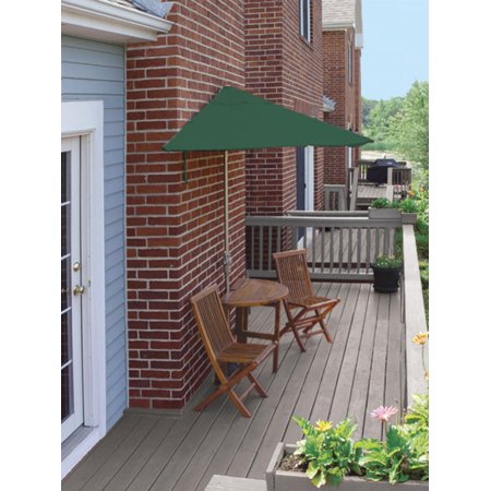 5-Piece Terrace Mates Premium Outdoor Patio Furniture Set 9' - Green SolarVista